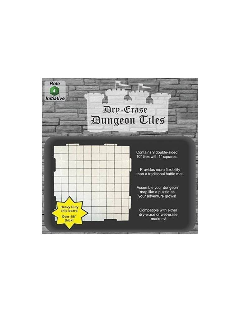 Dry Erase Dungeon Tiles - Pack of Nine 10` Interlocking Tiles