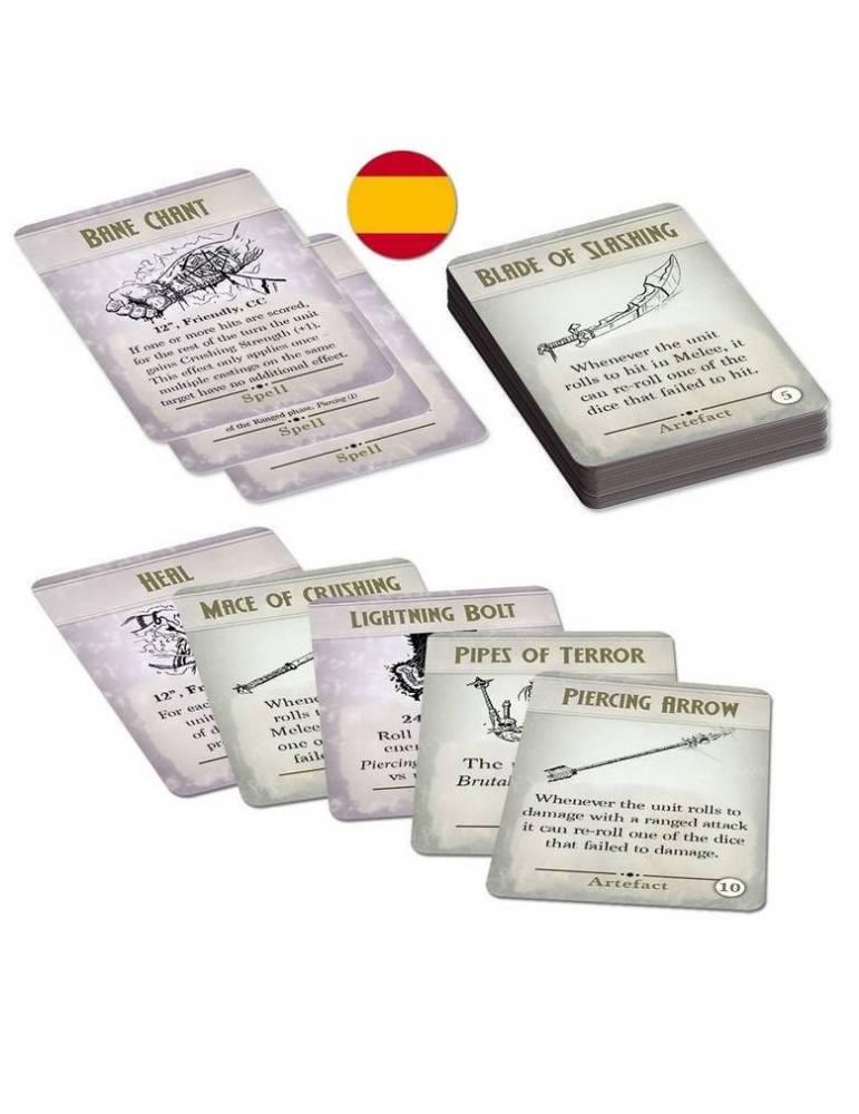 Kings of War 3ª Edición: Cartas de Hechizos & Artefactos
