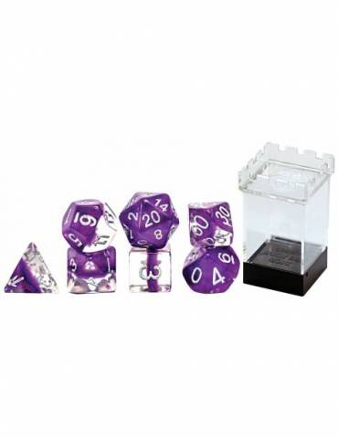 Set de dados Gate Keeper Games: Violet Neutron Dice