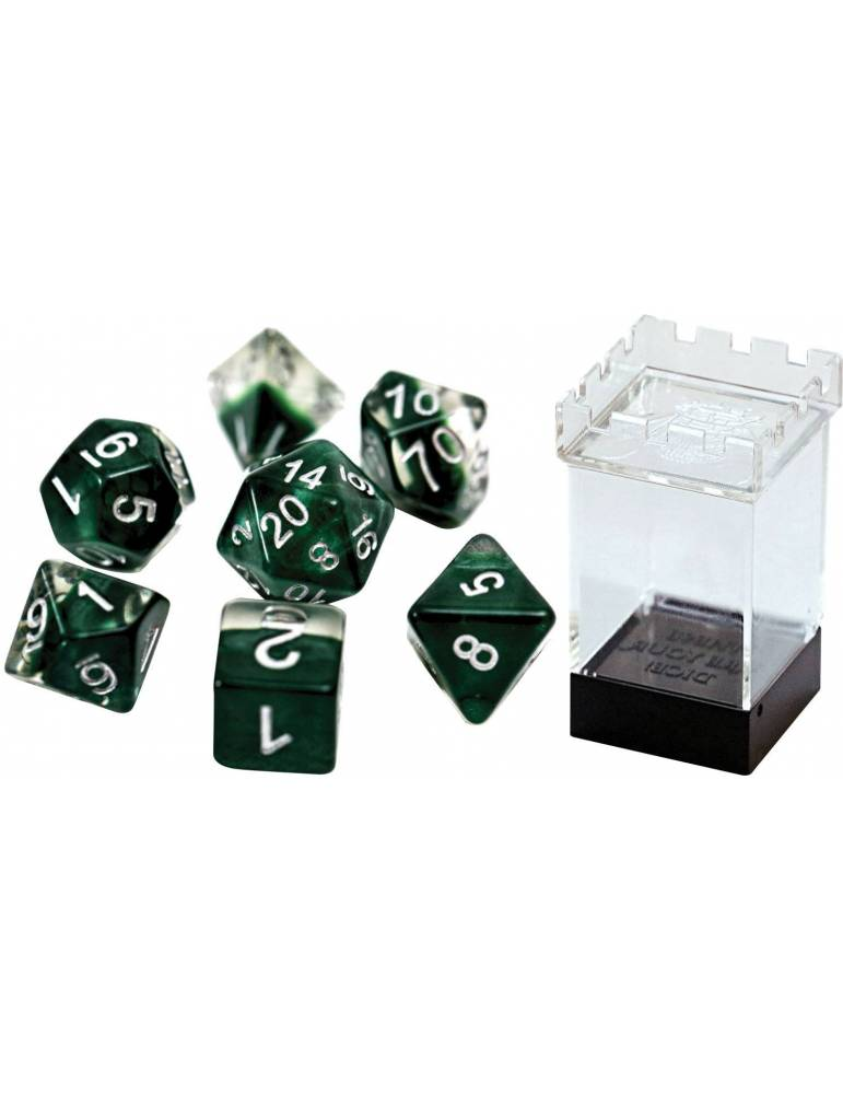 Set de dados Gate Keeper Games: Hunter Green Neutron Dice