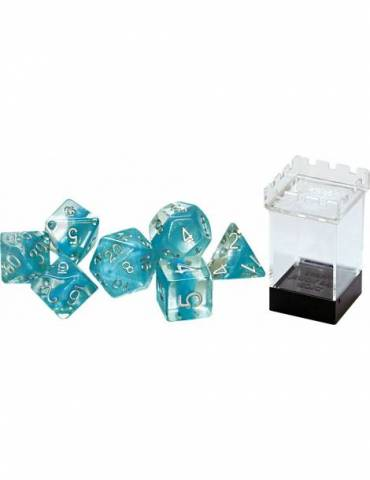 Set de dados Gate Keeper Games: Glacier (Light Blue) Neutron Dice