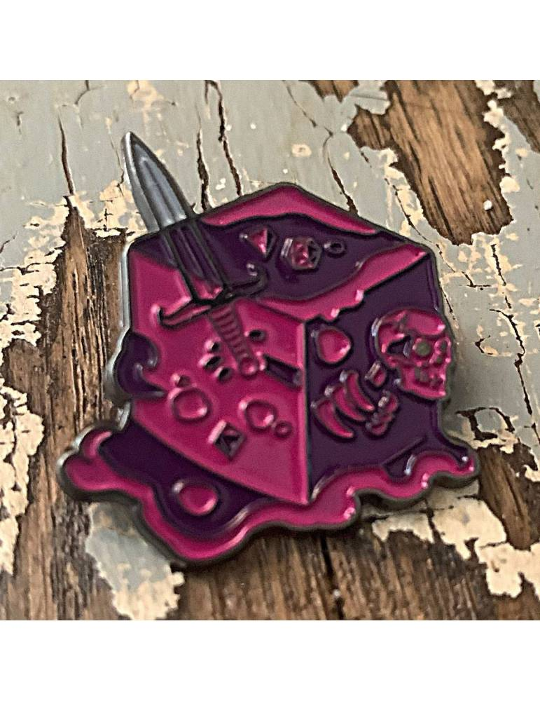 Pin Creature Curation: Gelatinous Cube (Pink)