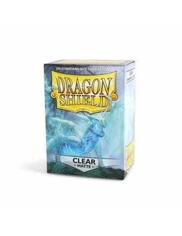 Fundas Standard Dragon Shield Matte Color Transparente - Paquete De 100