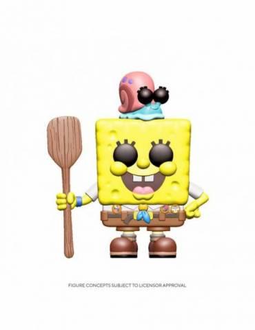 Figura Pop Bob Esponja 2020: SpongeBob Camping Gear 9 cm