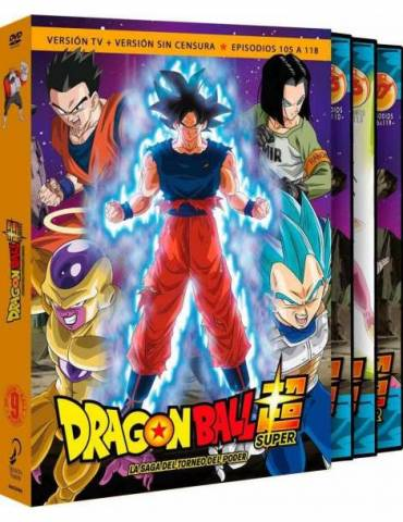 Dragon Ball Super Box 9. La Saga del Torneo del Poder (DVD)