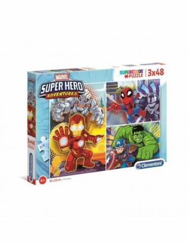 3 Puzles Marvel Superhero...