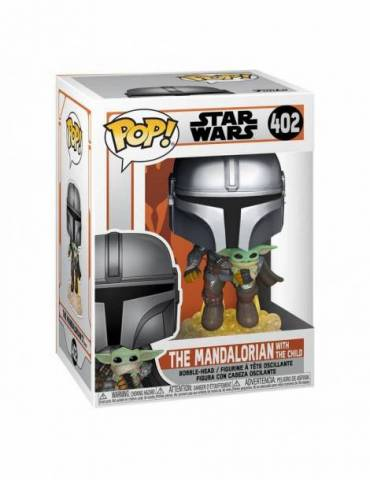 Figura Pop Star Wars The Mandalorian: Mando Flying w/ Jet Pack 9 cm