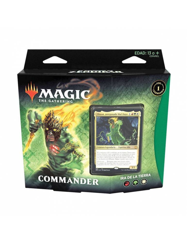 Magic: The Gathering - El Resurgir de Zendikar: Mazo Commander Ira de la Tierra