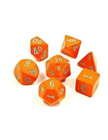 Set de dados Chessex Lab Dice Polyhedral Orange/turquoise (7 unidades)