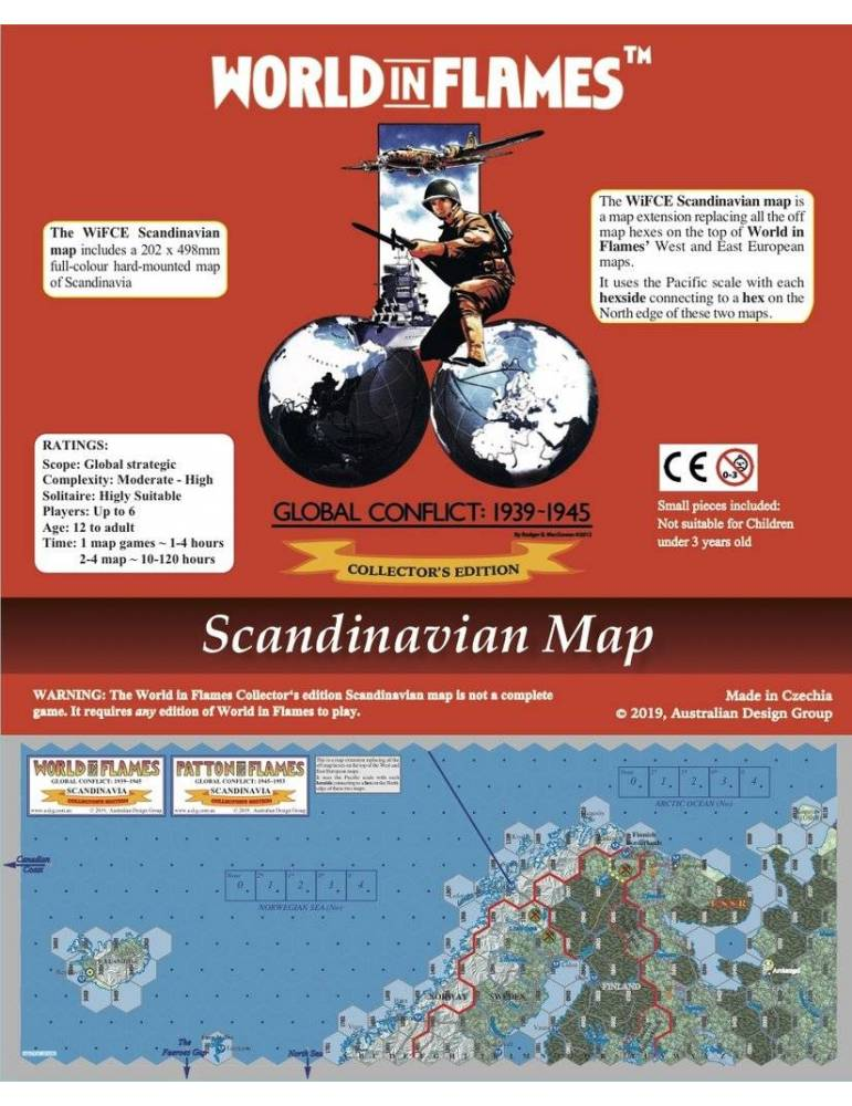 World in Flames Collectors Edition Hard-Mounted Scandinavia Map