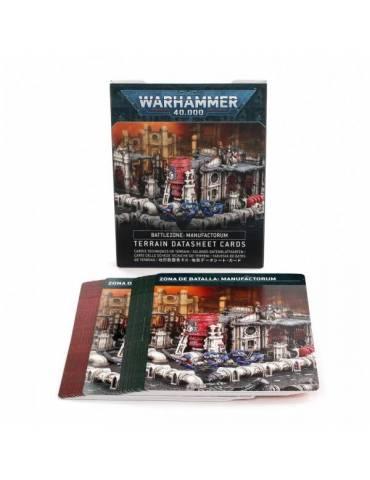 Zona de batalla: Manufactorum - Tarjetas de datos de terreno (Español)