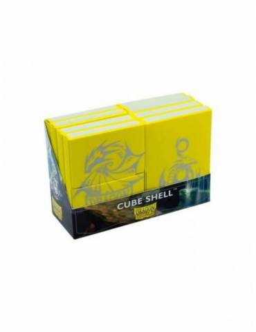 Caja de Mazo Dragon Shield Cube Shells: Yellow Display