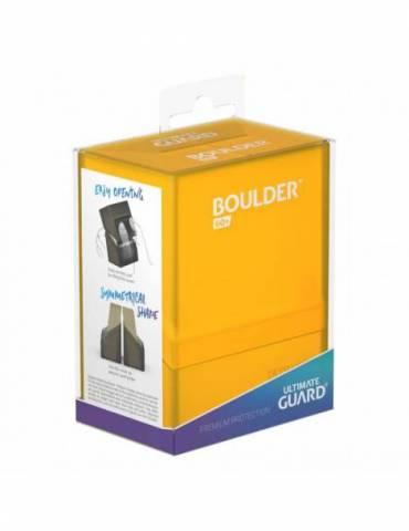 Caja de Cartas Ultimate Boulder Deck Case 60+ Ámbar