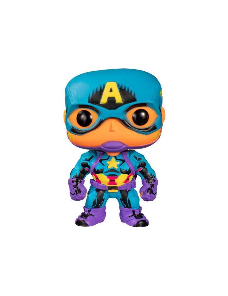 Figura POP Marvel Marvel Black Light: Captain America 9 cm