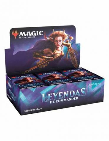 Magic Leyendas de Commander: Caja de Sobres de Draft (24) (Castellano)