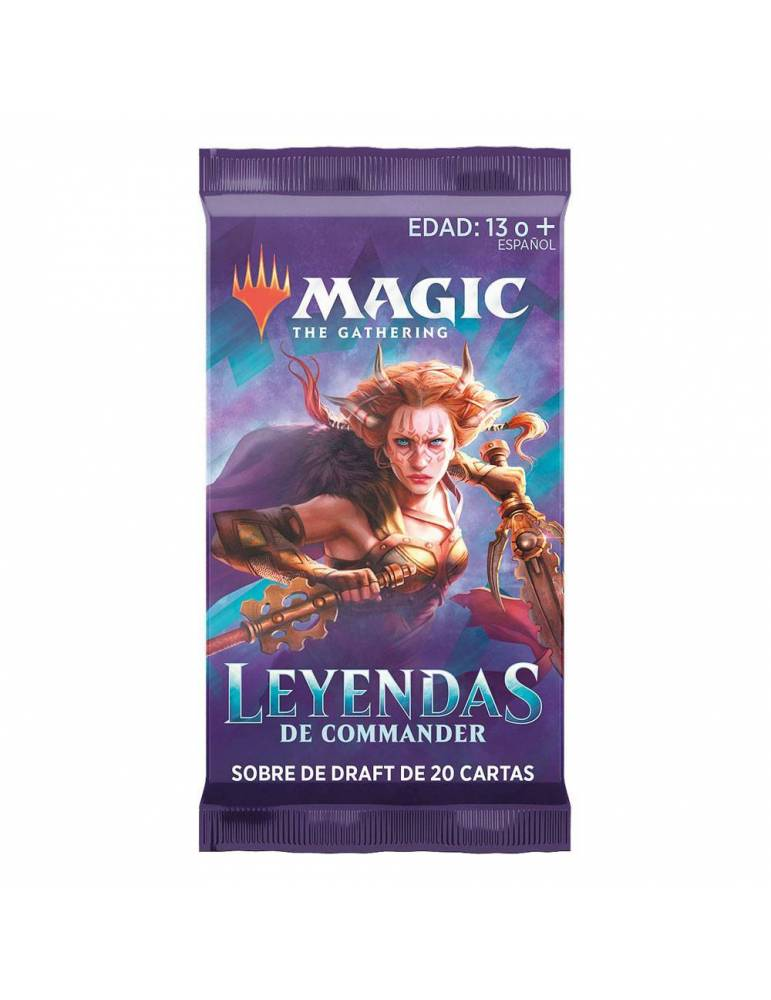 Magic Leyendas de Commander: Sobre de Draft con 20 cartas (Inglés)