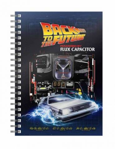 Libreta Espiral Regreso al Futuro: Powered by Flux Capacitor