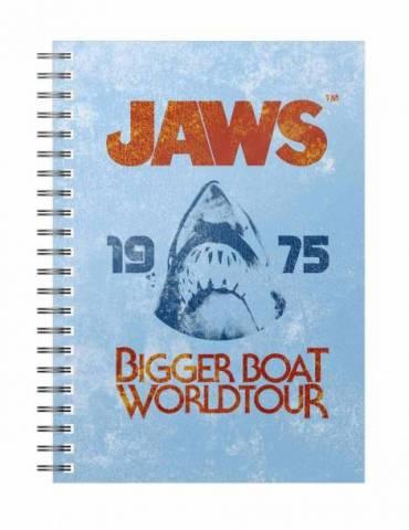 Libreta Espiral Azul Tiburón: Bigger Boat 1975