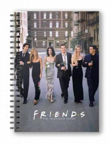 Libreta Espiral Friends Ciudad