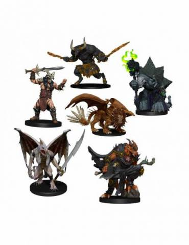 Figura D&D Icons of the Realms Miniaturas Descent into Avernus: Arkhan the Cruel and The Dark Order