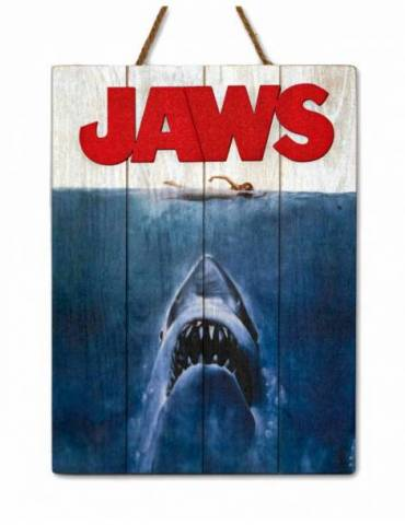 Cartel Madera Woodart 3D Print: Jaws 1975 30 X 40 cm