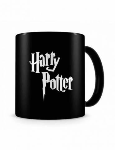 Taza Negra Cerámica Harry Potter: Logo Harry Potter