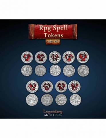 RPG Spell Tokens Red (22 Coins)