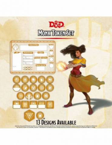 Set de Tokens Dungeons & Dragons: Monk (Player Board & 22 tokens)