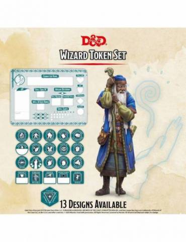 Set de Tokens Dungeons & Dragons: Wizard (Player Board & 22 tokens)