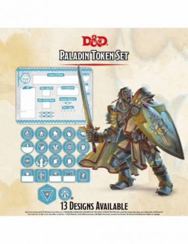 Set de Tokens Dungeons & Dragons: Paladin (Player Board & 22 tokens)