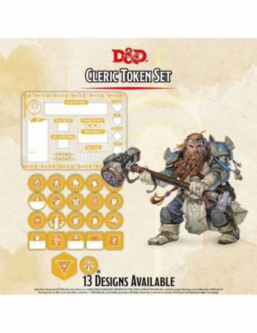 Set de Tokens Dungeons & Dragons: Cleric (Player Board & 22 tokens)