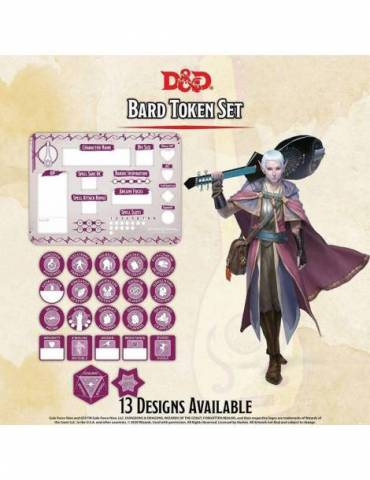 Set de Tokens Dungeons & Dragons: Bard (Player Board & 22 tokens)