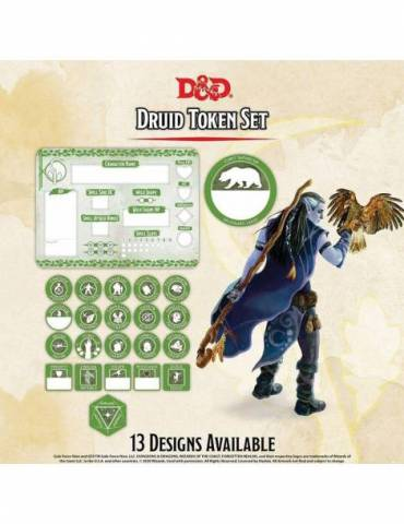 Set de Tokens Dungeons & Dragons: Druid (Player Board & 22 tokens)