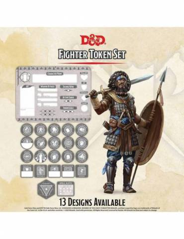 Set de Tokens Dungeons & Dragons: Fighter (Player Board & 22 tokens)
