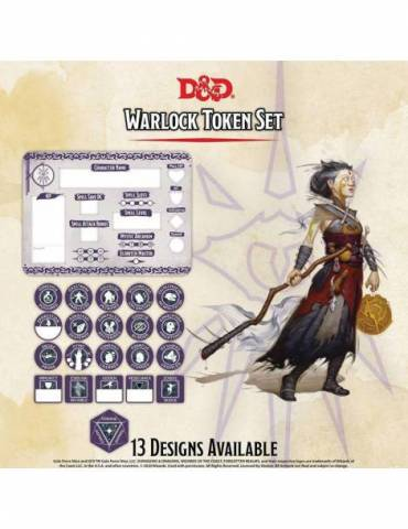 Set de Tokens Dungeons & Dragons: Warlock (Player Board & 22 tokens)