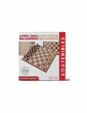 Ajedrez Damas Backgammon FSC 100%