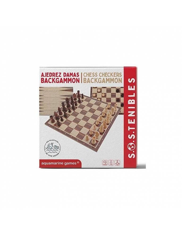 Ajedrez Damas Backgammon FSC 100%