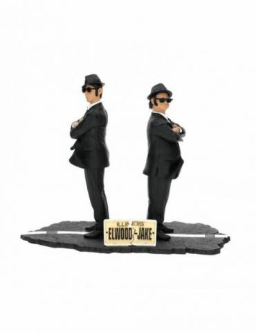 Set de 2 Figuras The Blues Brothers: Jake y Elwood 17 cm