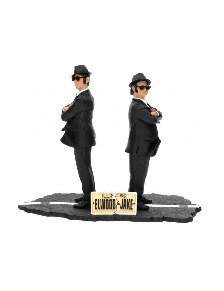 Set de 2 Figuras The Blues Brothers: Jake y Elwood 17 cm