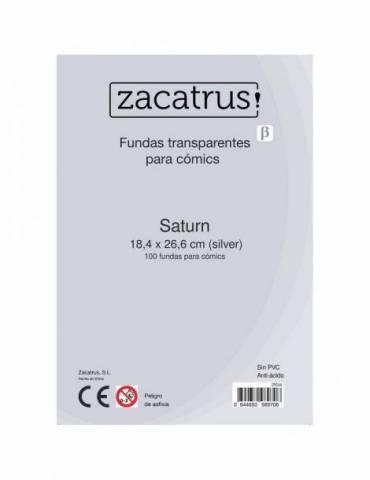 Fundas Zacatrus Saturn (Comic: 184 mm X 266 mm) (100 uds)