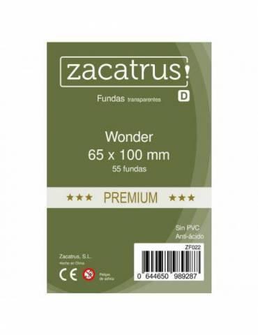Fundas Zacatrus Wonder premium (65 mm X 100 mm) (55 uds)