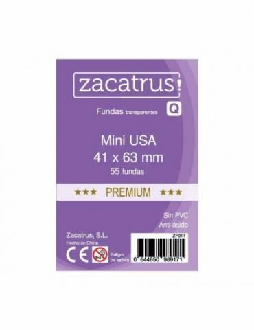 Fundas Zacatrus Mini USA Premium (41 mm X 63 mm) (55 uds)