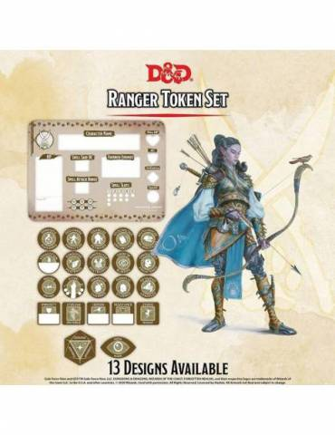 Dungeons & Dragons: Ranger Token Set (Player Board & 22 tokens)