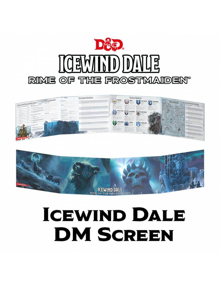 Dungeons & Dragons DM Screen: Icewind Dale - Rime of the Frostmaiden