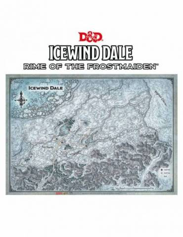 "Dungeons & Dragons Map Icewind Dale (31""x21"")"