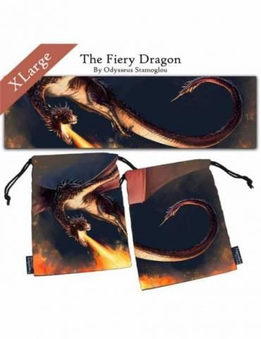Bolsa para dados Legendary Dice Bag: The Fiery Dragon XL