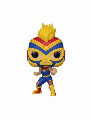 Figura POP Marvel Luchadores: Captain Marvel 9 cm