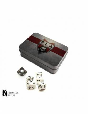 SLA Industries RPG LE Dice & Tin set