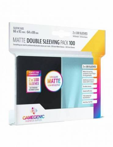Fundas Gamegenic Matte Double Sleeving Pack 100