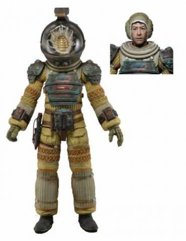 Figura Scale Action Figure Alien 40 Aniversario Serie 3: Kane Traje de Compresion 18 cm